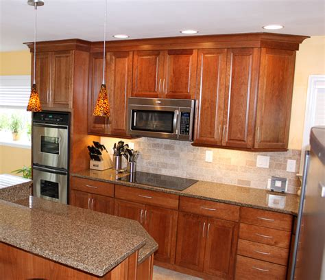 kitchen maid cabinets sale kraftmaid cabinets northfield cherry sunset