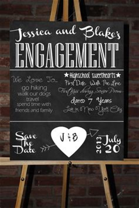 Wedding And Engagement Posters by 1000 Images About Engagement Chalkboard Poster On