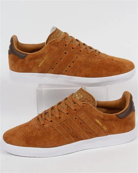 adidas 350 trainers brown shoes originals mens