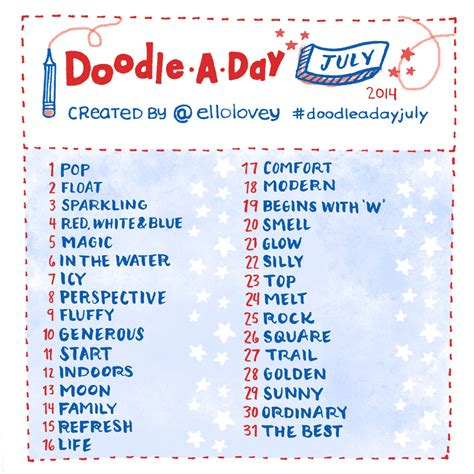 doodle challenge ideas rhi creations doodle a day july