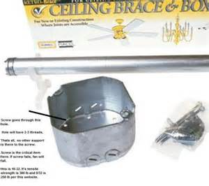 How To Install A Ceiling Fan Box Ceiling Fan Box Doityourself Community Forums