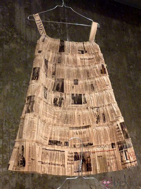 vestido manualidades de papel periodico vestido manualidades de papel periodico