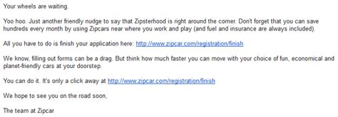 Zipcar Insurance Letter Zipcar Abandonment Email