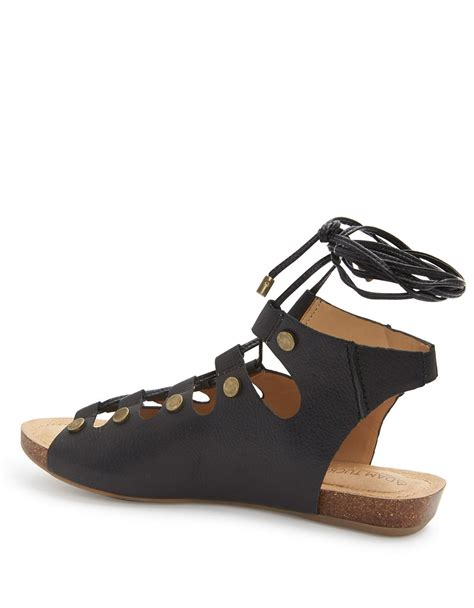 me sandals me nori leather sandals in black lyst