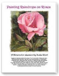 watercolor roses painting lesson by susie raindrops on roses
