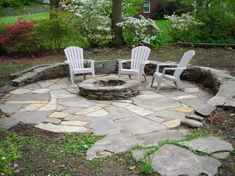 flagstone patio with firepit how to build a pit 5 diy pit projects