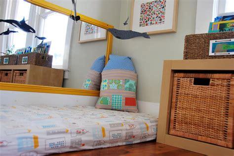 cosy montessori style floor beds