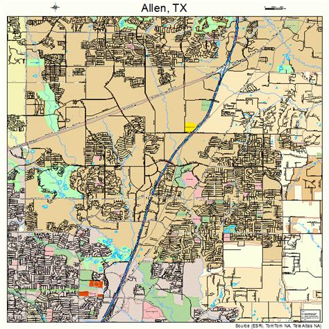 where is allen texas map allen texas map 4801924