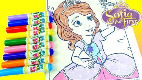 crayola giant coloring pages sofia the first disney junior sofia the first crayola color wonder youtube
