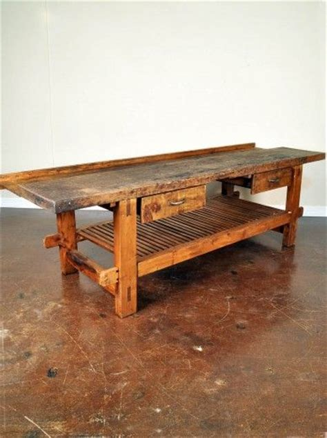 wooden island bench 1000 images about antique work benches on pinterest