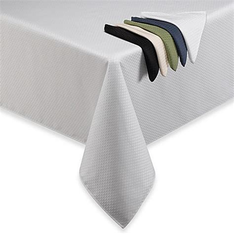 bed bath beyond tablecloths buy mckenna 70 inch round tablecloth in blue from bed bath