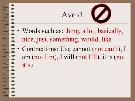 Words Not To Use When Writing An Essay by Words Not To Use In An Essay The Never List Ayucar