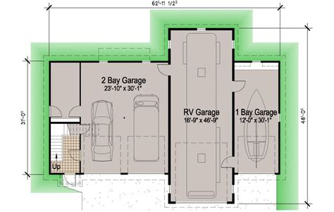 rv garage floor plans island rv garage 45 motor home southern cottages