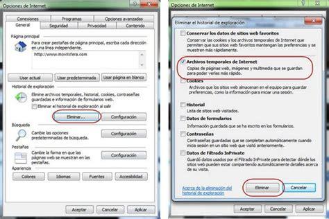 como borrar imagenes temporales de internet truco eliminar la cach 233 de los navegadores en windows