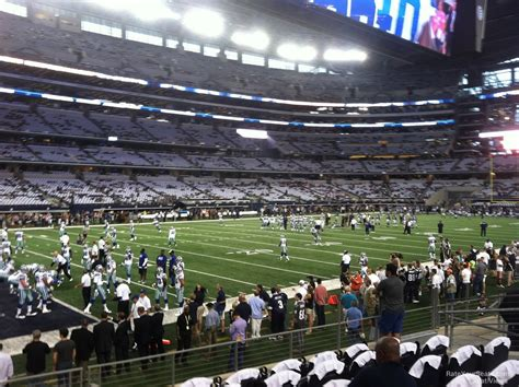cowboys stadium sections at t stadium section 118 dallas cowboys rateyourseats com