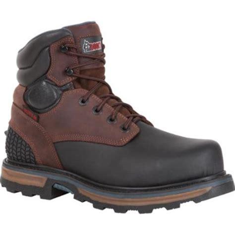 steel toe work boots at walmart rocky rkyk090 elements block steel toe waterproof work