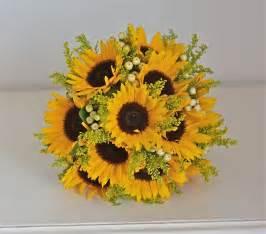 sunflower bouquet wedding flowers becky s sunflowers