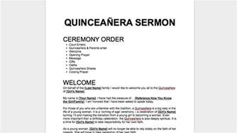 quinceanera program templates quincea 241 era sermon