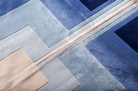 blue and white geometric rug large edward fields blue and white wool geometric rug at 1stdibs