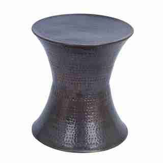 hammered copper table ls on sale park cirque drum table 16598258 overstock com