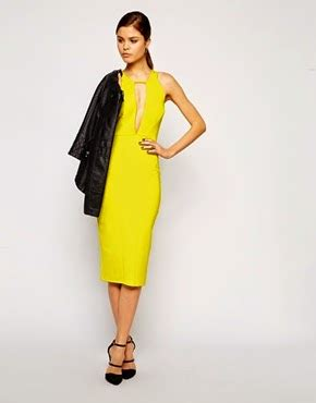 Wn Dress Trily Yellow Scuba side style cheltenham race day looks