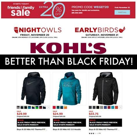 black friday 2015 walmart target kohls ads and hours kohls nike sale better than black friday prices