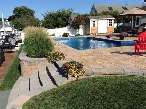 backyard pool and patio suffolk county backyard renovations islip pool patios