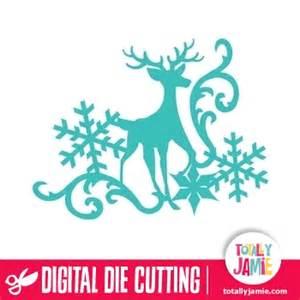 christmas reindeer snowflake flourish 3 totallyjamie svg cut files graphic sets amp clip arts