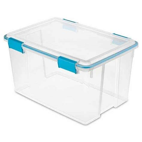 starlite storage containers sterilite gasket box 54 quart pack of 4