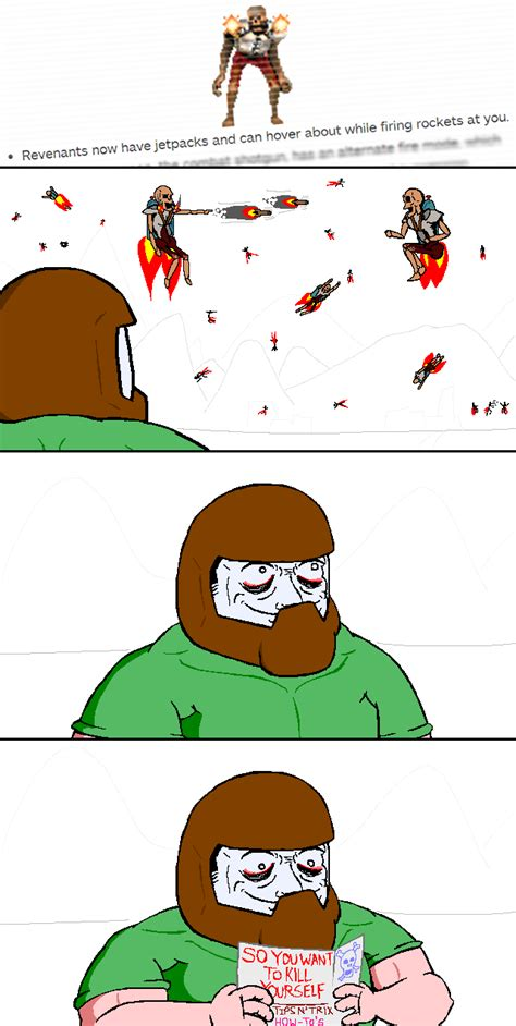 Doom Guy Meme - revenants with jetpacks doom know your meme