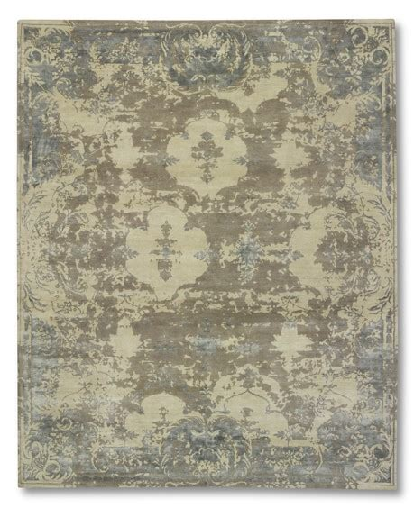 william sonoma rugs morning knotted wool silk rug williams sonoma