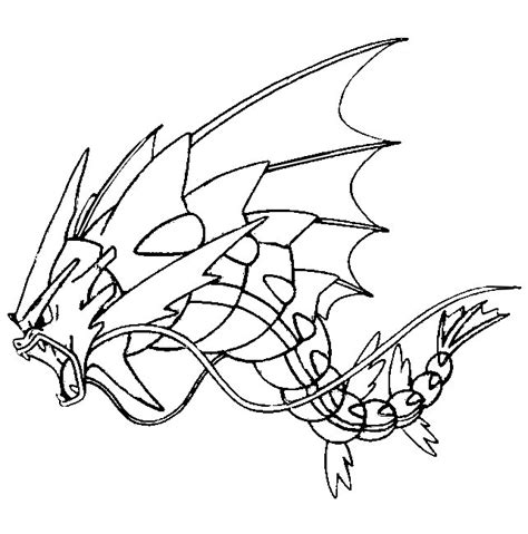 pokemon coloring pages gyarados coloring page mega evolved pokemon mega gyarados 130 130