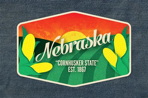 Nebraska The 37th State by State Logos On Behance