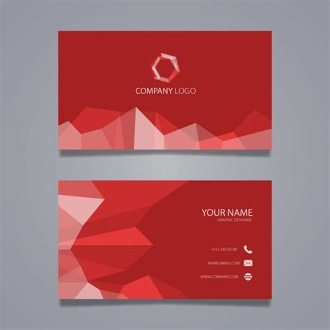 name card design template ai polygonal business card vector free