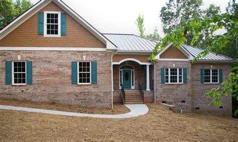 Brick Ranch House by Brick Ranch Home Waxhaw Custom Homes Palmer Custom