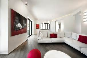 living white room: of living areas was created with the large contemporary living room