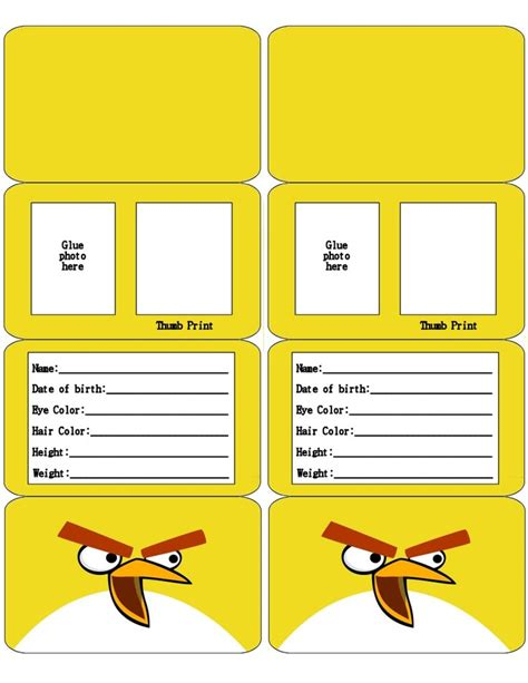 safety card templates 17 best images about kid id cards on to