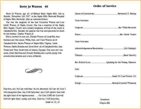 funeral bulletin template pictures to pin on pinterest