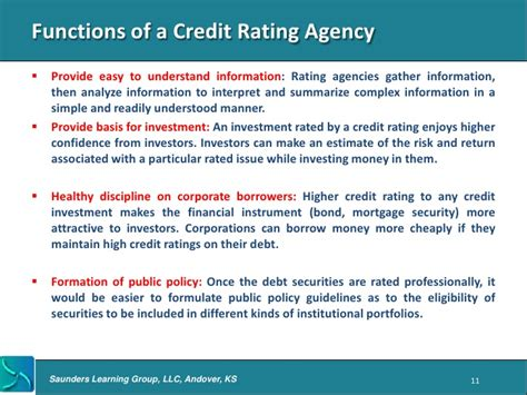 the intern rating intro to credit rating agencies