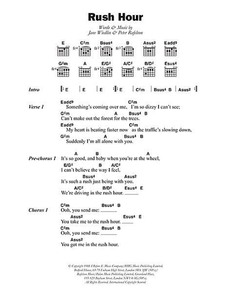 Jane Wiedlin Rush Hour 107465 | Sheet music notes, Jane