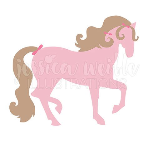 Pink Pony pretty pink pony digital clipart pink clip