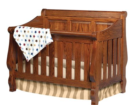 Heirloom Sleigh Panel Convertible Crib Amish Traditions Wv Convertible Sleigh Bed Crib