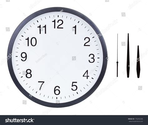 printable clock with hours and minutes blank clock face hour minute second stock photo 176292206