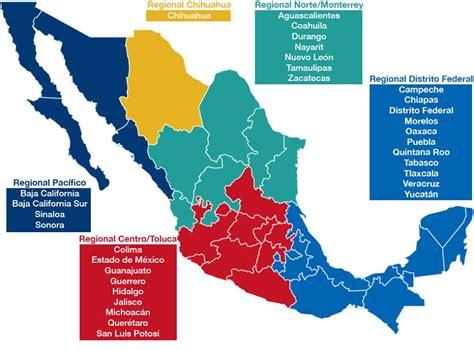 Mapa Regionales FLL México 2014 2015