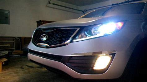 Kia Sportage Headlights 2011 Kia Sportage Turbo Hid Installed 스포티지r 터보 Hid 설치후
