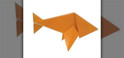 Traditional Origami - how to fold an easy origami paper fish 171 origami