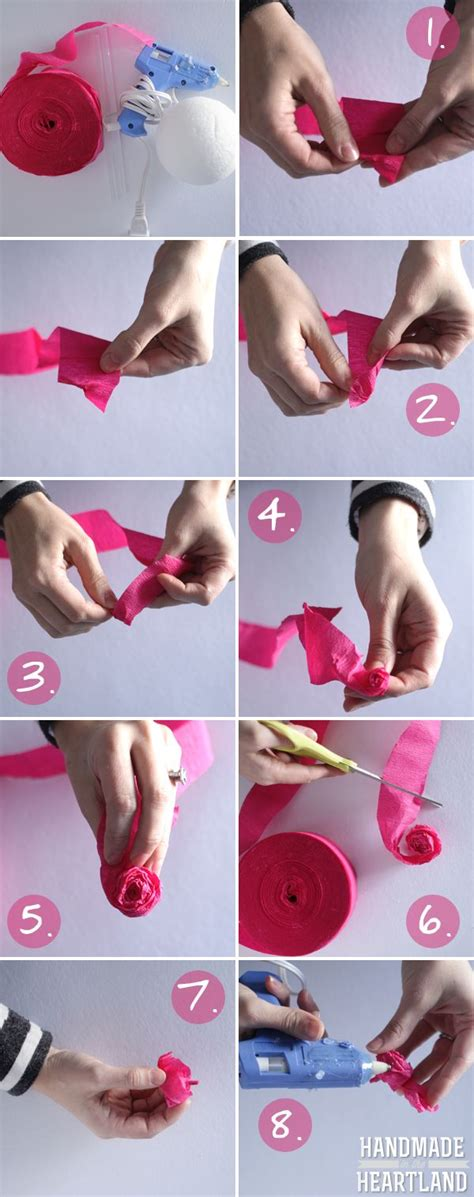 How To Make Tissue Paper Streamers - diy tissue paper roses mondays tutorial and tissue