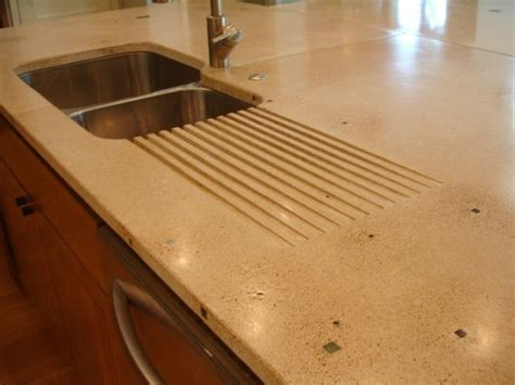 Colorful Kitchen Islands by Built In Drain In Concrete Countertop Kitchen Amp Dining