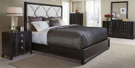 cosmopolitan ebony upholstered panel bedroom set  art   coleman furniture