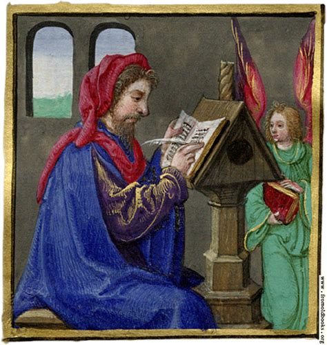 The Scribe miniature painting of a scribe writing at a desk